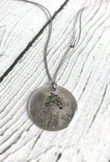 Sterling Litho Holliday Park Goddess Necklace - Emily Schwank Collection