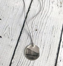 Sterling Litho Monon Trail Bridge Necklace - Emily Schwank Collection
