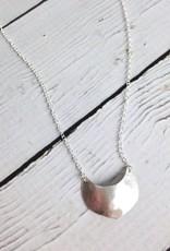 Handmade Silver Shield Aros Necklace