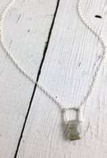 Handmade Sterling Silver Indus Necklace with Labradorite