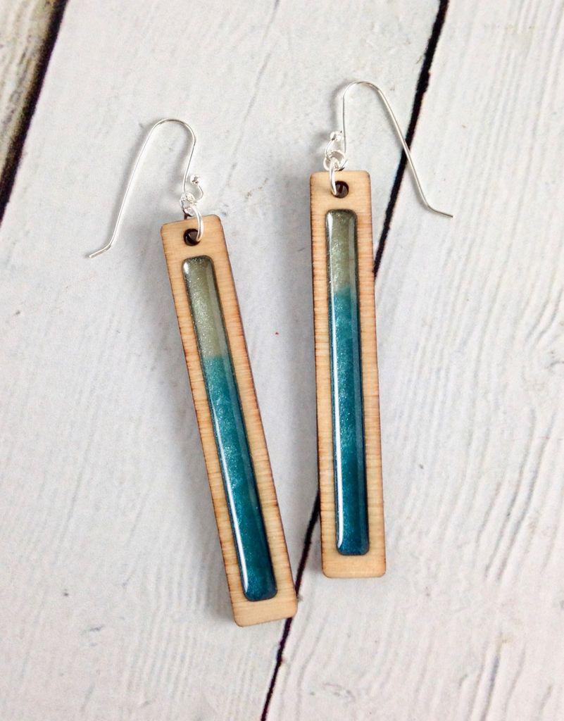 Handmade Ombre Gradient Swatch Earrings