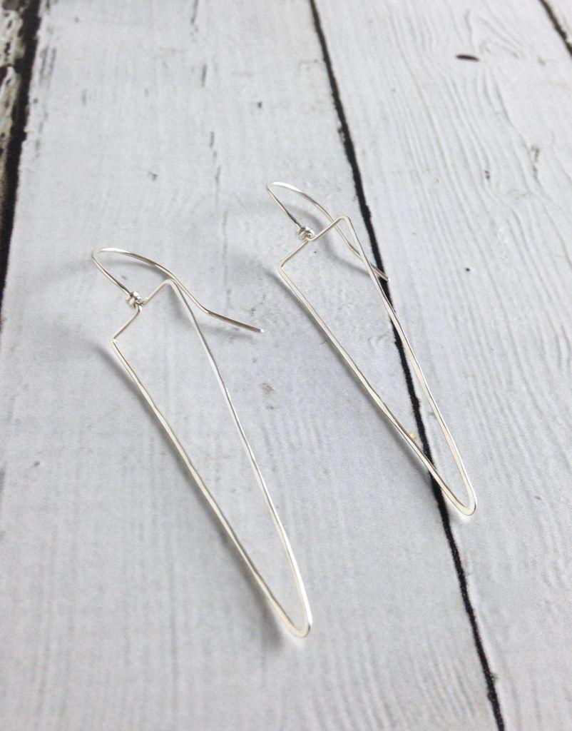 Handmade Silver Spike Troy Earrings