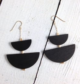Offset Petit Wood Earrings by Molly M. Designs