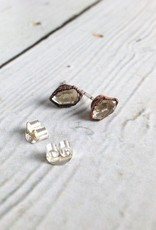 Raw Herkimer Diamond | Tibetan Quartz Point Stud Earrings