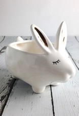 "5-1/2"" Stoneware Rabbit Planter"
