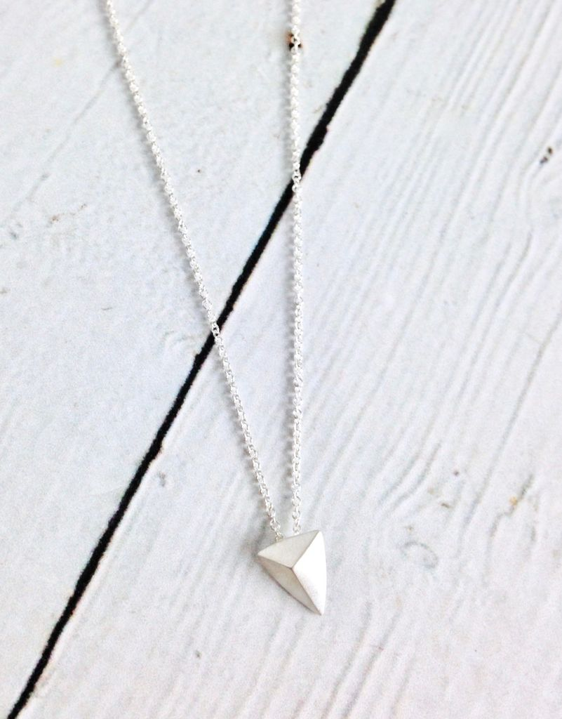 """""""You Are Mighty"""" Pyramid Necklace"""