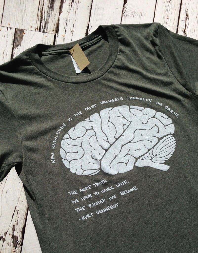 Kurt Vonnegut Brain Tee