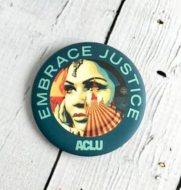 Limited Edition Embrace Justice pin by Shepard Fairey