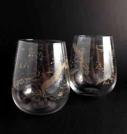 Northern Hemisphere Night Sky Wine Glasses