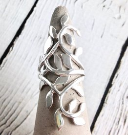 Sterling Silver Climbing Vine Ring, Size 9