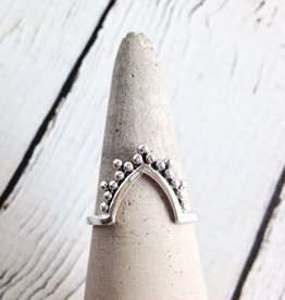 Sterling Silver Bali V-Shaped Ring