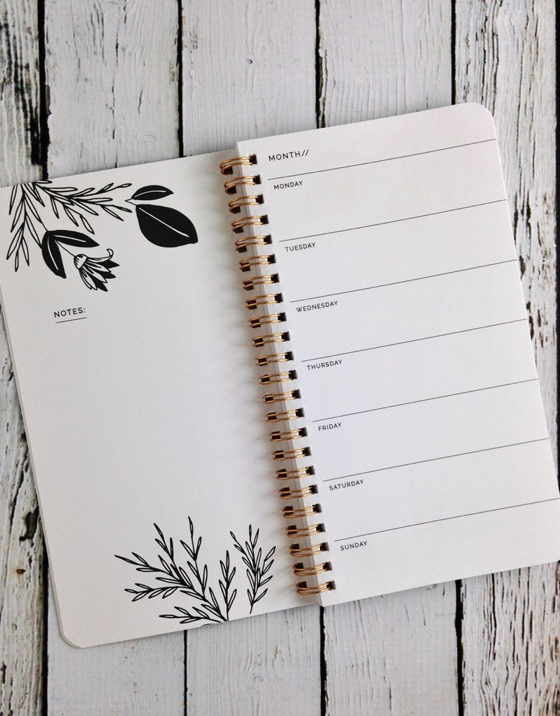 Each Day Comes To Me With Both Hands Full Of Possibilities: Weekly Planner