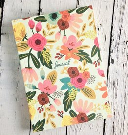 Mint Floral Journal