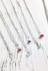 Handmade Tiny Birthstone Necklace