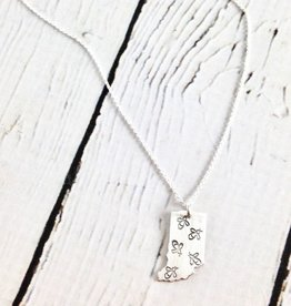 Handstamped Firefly Tiny Indiana Necklace