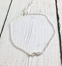Sterling Silver Lucky Charm  Infinity Charm Bracelet