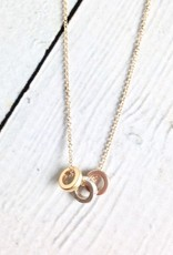 """Mixed Metals """"Collect Beautiful Moments"""" Trio of Rondelle Beads Necklace"""