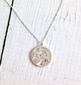 "Sterling Silver ""You are every nice thing"" Magical Multi-icon Pendant Necklace"
