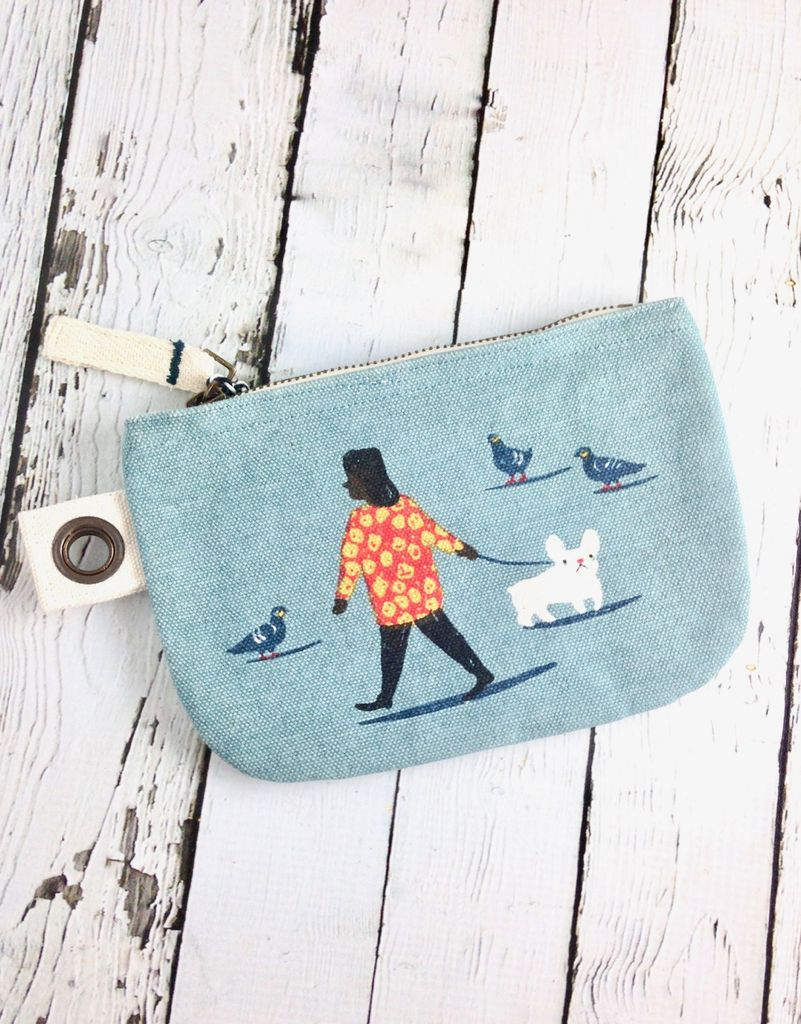 People Person Small Zipper Pouch