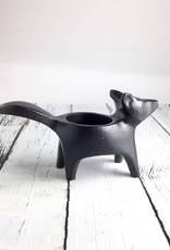 Black Fox Candle Holder