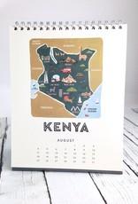 Maps of the World 2019 Desk Calendar