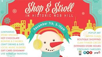 Nob Hill Shop & Stroll and a Holiday Gift Card Sale