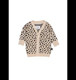 HuxBaby Huxbaby, Leopard Knit Cardi