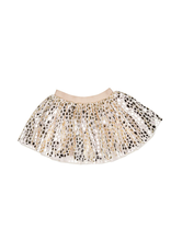 HuxBaby Huxbaby, Gold Leopard Tulle Skirt