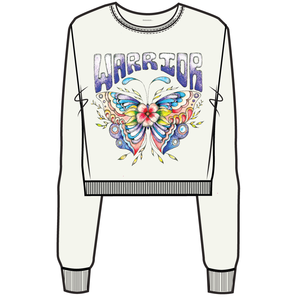 Spiritual Gangster Spiritual Gangster, Girls Warrior Classic Crew Neck Sweater