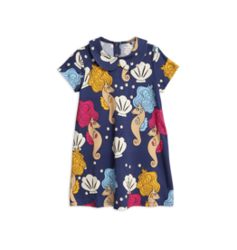 MiniRodini Mini Rodini, Seahorse Collar Dress