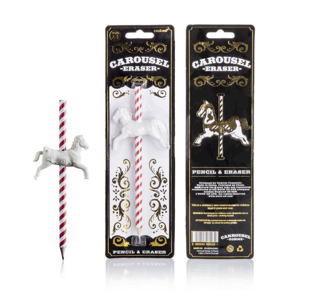 Suck UK, Carousel Horse Eraser and Pencil