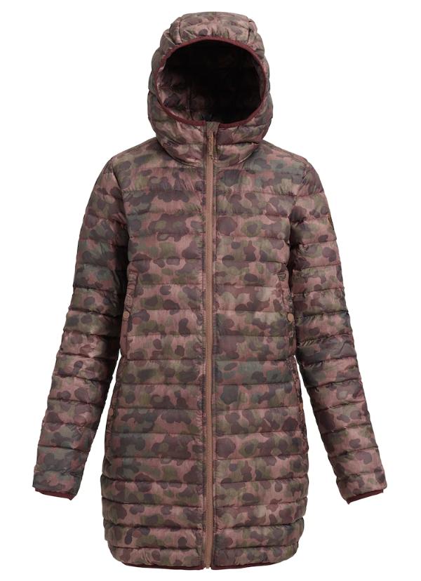 burton Burton, Women's Evergreen Long Down Hooded Jacket