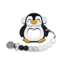 Louloulollipop Loulou Lollipop, Penguin Silicone Teether Set