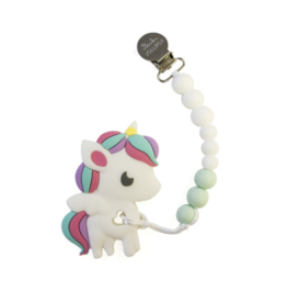 Louloulollipop Loulou Lollipop, Rainbow Unicorn Silicone Teether Set