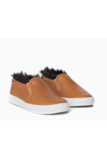AKID AKID, Liv slip on Leather + Faux Fur Sneaker