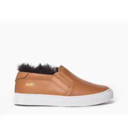AKID AKID, Liv slip on Leather + Faux Fur Sneaker