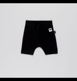 HuxBaby HuxBaby, Black Drop Crotch Shorts