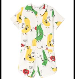 MiniRodini Mini Rodini, Veggie, Aop Summer Suit