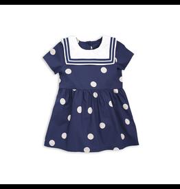 MiniRodini Mini Rodini, Dot Woven Sailor Dress