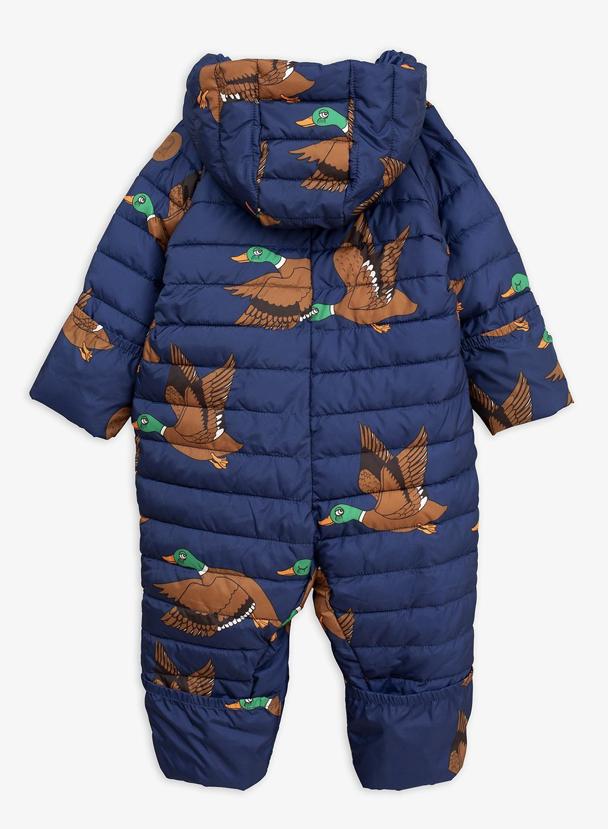 MiniRodini Mini Rodini, Ducks Insulator Baby Overall Onepiece Snow Suit