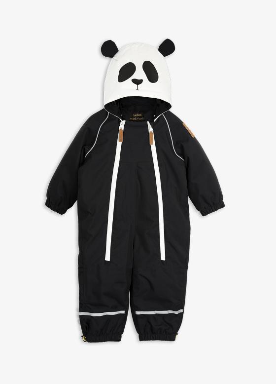MiniRodini Mini Rodini, Alaska Panda Baby Overall Onepiece Snow Suit