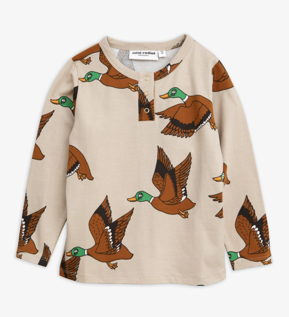 MiniRodini Mini Rodini, Wild Ducks Grandpa Shirt