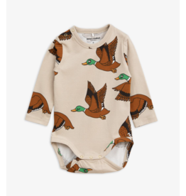 MiniRodini Mini Rodini, Wild Ducks Long Sleeve Body Onesie