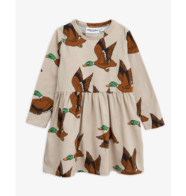 MiniRodini Mini Rodini, Wild Ducks Long Sleeve Dress