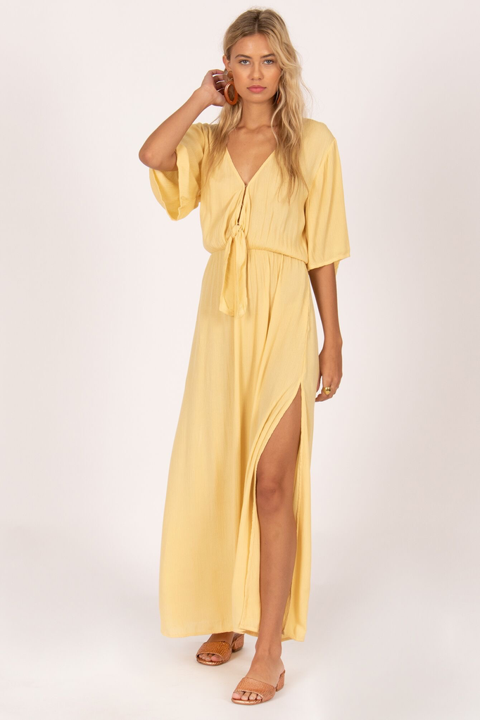 Volcom Lemongrass Woven Maxi Dress
