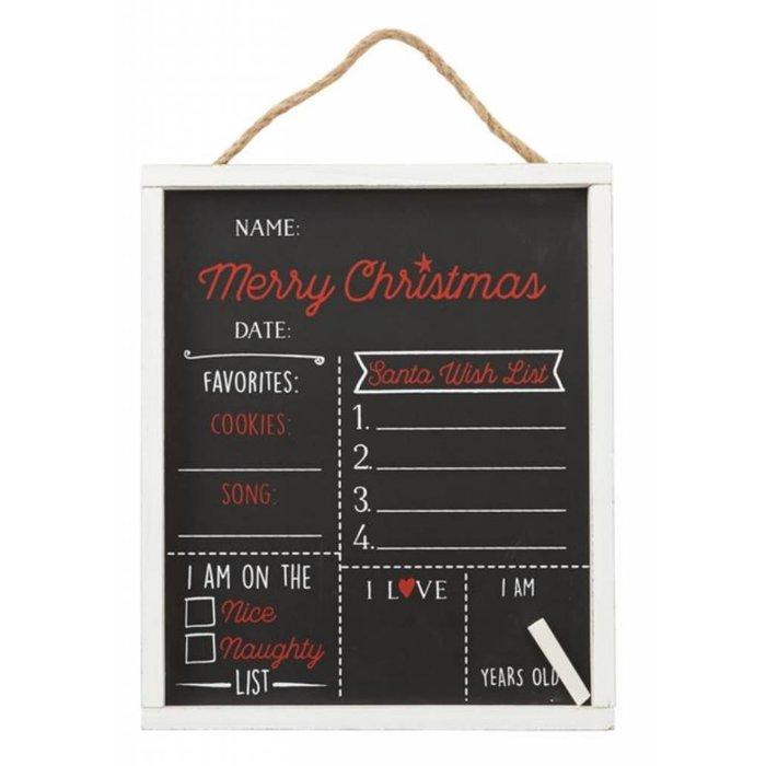 Merry Christmas Chalkboard Kids Sign