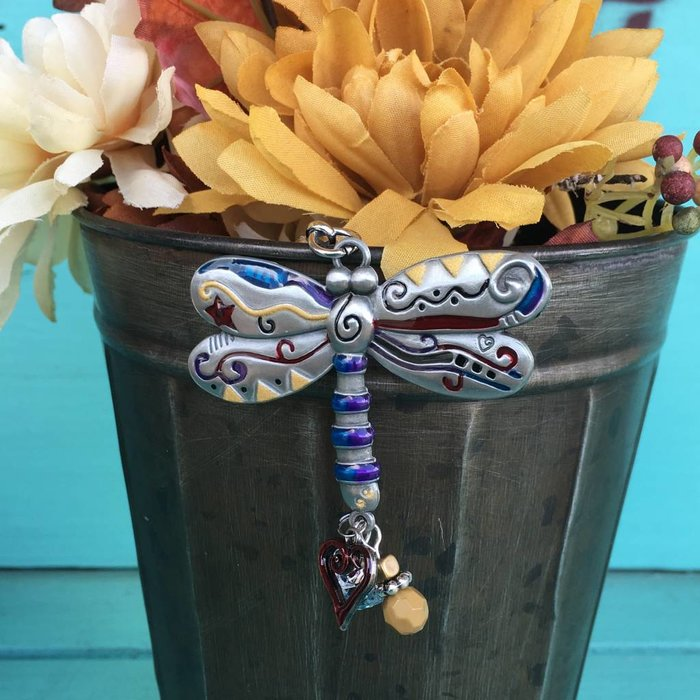 Dragonfly Color Art Key Chain