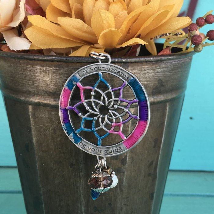 Dreamcatcher Color Art Key Chain