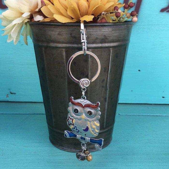 Owl Color Art Key Chain