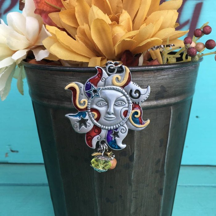 Sun Color Art Key Chain